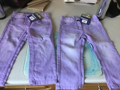 Girls two pairs of Trousers, age 12-18 months 86cm new with tags. both Lilac
