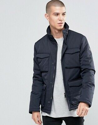 Armani Jeans Navy Caban Four Pocket Field Jacket Han Solo Size 48 Smal/med