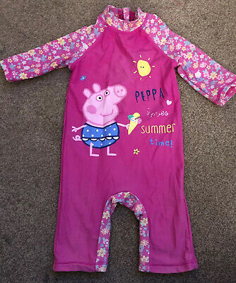 Lovely Girls Peppa Pig Swimming Suit & Age 9-12 Months
