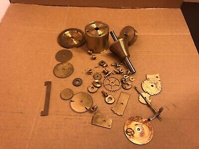 Selection of Vintage Brass Clock Parts  - Used Spare Parts