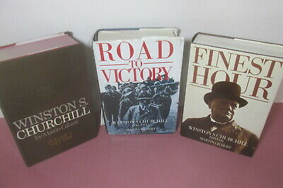 Winston S. Churchill by Martin Gilbert x 3 volume set, one signed by author
