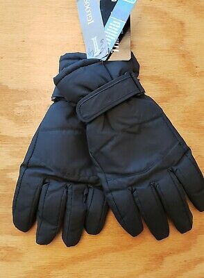 Igloos Mens Touch Pro-Text Technology Stretch Fleece Gloves Dark Gray NEW $32
