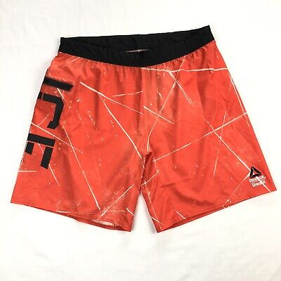 Reebok Crossfit Mens Large Orange CF Board Shorts Athletic Gym