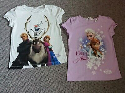 Disney Frozen Set Of 2 X Tshirts  Age 6-8 Yrs H&M