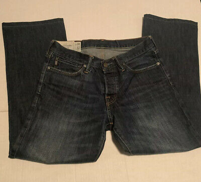 Men's ABERCROMBIE & FITCH Kilburn Low Rise Boot Cut Button Fly Jeans 30x28 A&F