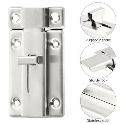 Sliding Door Bolt Heavy Duty Bathroom Toilet Dead Lock Slide Gate Catch Latch JU