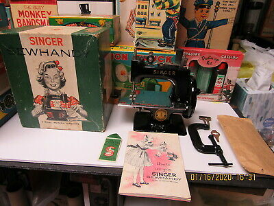 Singer Sewhandy 1953 Childrens Sewing Machine Model 20 N Mint Condition In Box