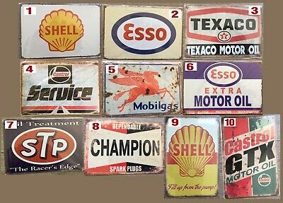Tin Signs Motor Oil-Fuel 210 X 297 (A4)