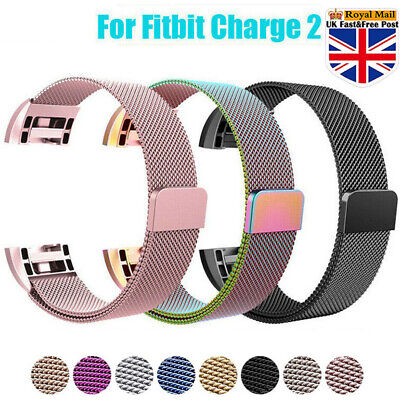 For Fitbit Charge 2 Strap Replacement Milanese Band Metal Magnet Stainless Steel