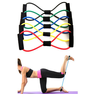 Elastic Rubber Resistance Latex Band Loop Yoga Fitness Exercise Training.