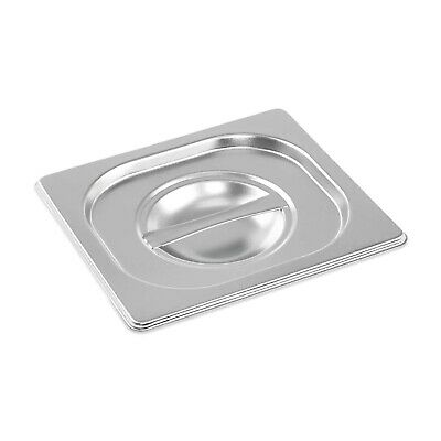Stainless Steel Container Lid Gastronorm 1/6 Size Bain Marie Food Pan Pot Tray