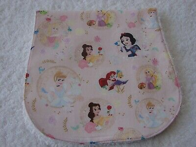 Princess Pink Burp Cloth Cotton Front Towelling Back Handmade