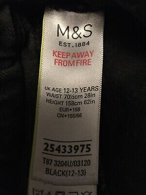 Marks and Spencer Dark Grey Denim Jeans Boys