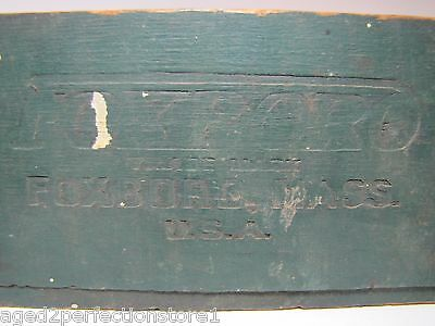 Antique FOXBORO Wooden Dovetailed Advertising Box industrial instruments Mass