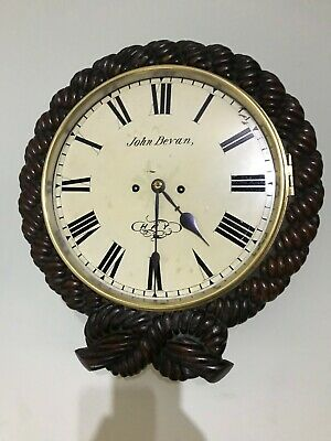 double fusee wall clock