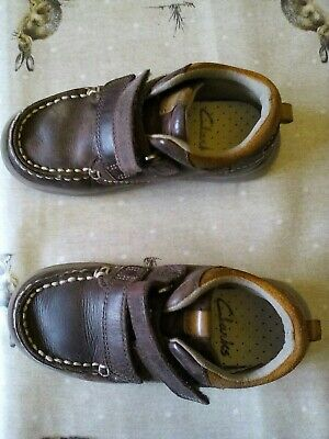 Boys Clarks Shoes / Boots - Infant Size 8.5F - Brown