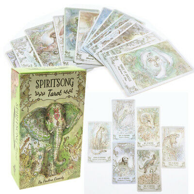 78pcs/Set Spiritsong Tarot Deck Cards Divination Board Game Playing Cards Gift