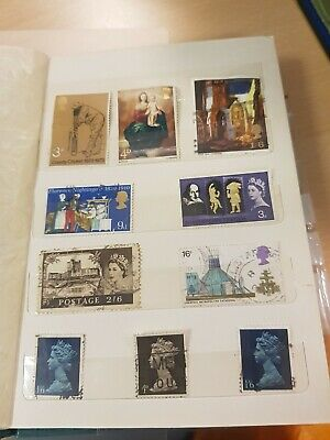 Various Used Great Britain Stamps of Queen Elizabeth 2 Qty: 10 (My ref:ST00047)