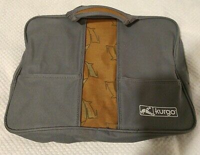 Kurgo Dog Bag Accessories Travel Tote Pet Supplies Gray With Dog Pattern EUC