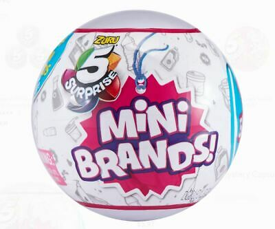 5 Surprise Mini Brands - 1 BALL - MADE BY ZURU! 100% AUTHENTIC BNIB