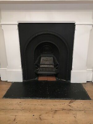 Antique Bedroom Cast Iron Victorian Fireplace