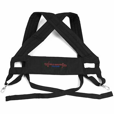 World Rhythm Djembe Drum Harness - Padded Carry Straps