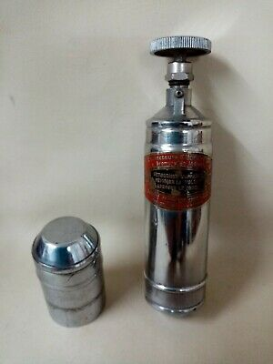 French Classic Car Fire Extinguisher Brevets Bouillon Freres Original Used