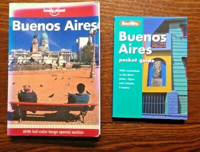 2 Travel Guides to Buenos Aires - Lonely Planet (2002) and Berlitz (2000)