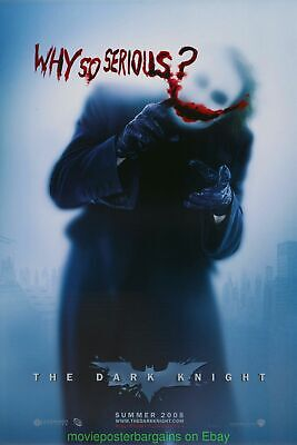 DARK KNIGHT MOVIE POSTER Double Sided  WHY SO SERIOUS? Advance Style 27x40 Inch