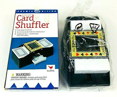 Automatic Card Shuffler Premiere Edition 1-2 Decks by Cardinal NEW in Open Box