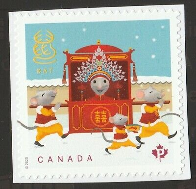 Canada 2020 ; Year of the Rat ; Single from Booklet (P) ;  MINT NH VF