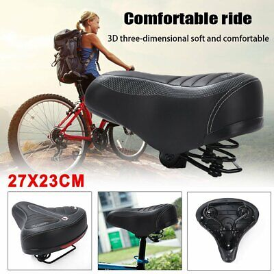Large Bum Saddle Seat Bike Bicycle Gel Cycling Sprung Comfort Sporty Soft Pad