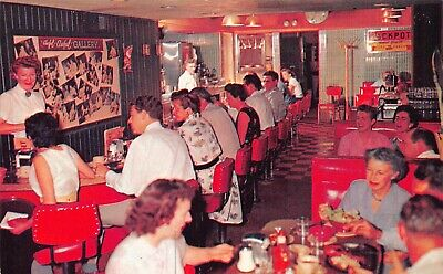 NV - 1950's The Nugget Club Casino Restaurant Interior at Reno, Nevada