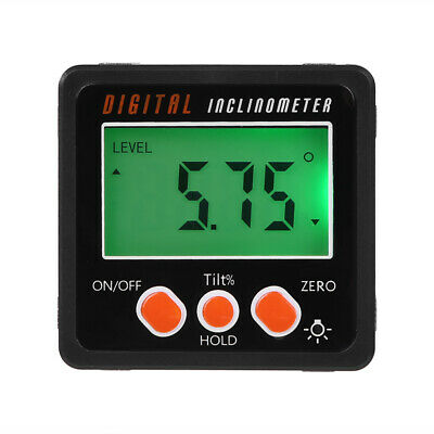 Digital LCD Protractor Angle Finder Bevel Level Box Inclinometer Meter Magnetic~