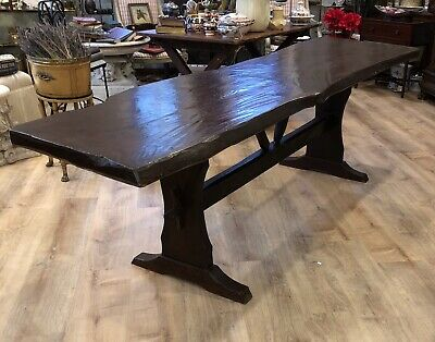 RARE Antique Old Hickory Style Adirondack rustic camp cabin Dining Console Table