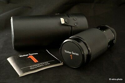 Vivitar Series 1 70-210mm f2.8-4 for Nikon, Komine, w/case & manual, TESTED, EXC
