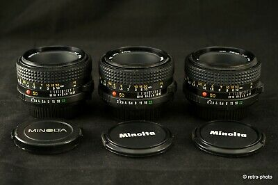 Minolta MD 50mm f/2 lens (only one left), TESTED OK