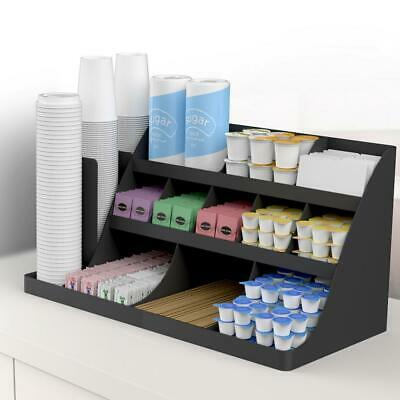 Condiment Caddy Extra Large 3 Tier Organizer K-Cup Sugar Coffee Tea Bags Holder