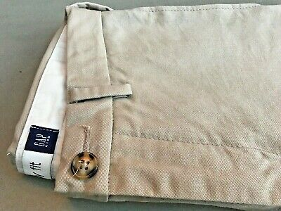Gap Kids, Smart Chino Trousers. Age 8-9Y Easy Fit. 100% Rich Cotton. Camel Beige