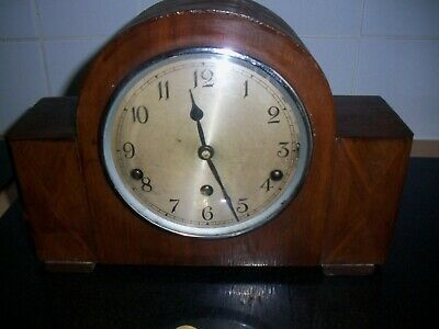 VINTAGE GARRARD  WESTMINSTER CHIMING MANTEL CLOCK key wind