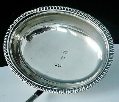 Large Antique Silver Toddy Ladle, Mary Ann & Charles Reilly, London 1826