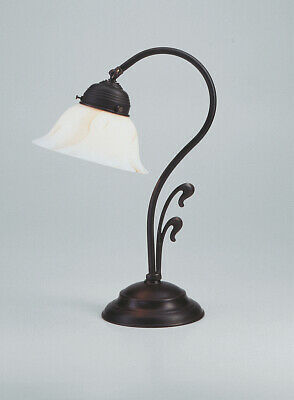 Beautiful Table Desk Lamp Made from Antique Brass Berliner Messinglampen
