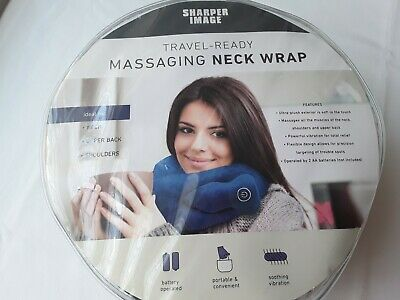 Sharper Image Massaging Neck Wrap, Neck Shouders Upper Back