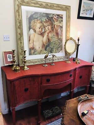 Antique Edwardian Buffet /Sideboard Painted In Frenchic Artisan Chalk Paint