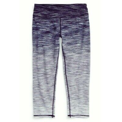 Zella Girl Grey Space Dyed Ombre Cropped Leggings XL 14-16