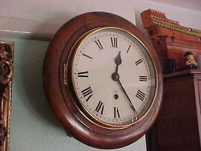 Vintage 8 Inch Dial Elliott London Walnut School Station Wall Clock : Reading