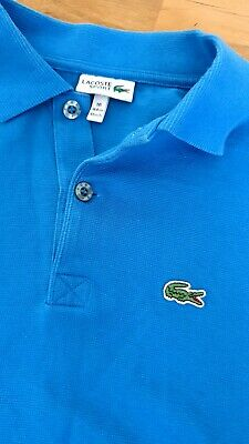 Boys Blue Lacoste Polo shirt Age 16 years