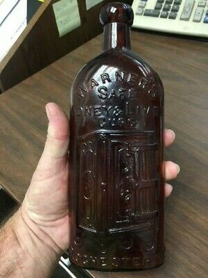 Antique Warner's Safe Kidney And Liver Tonic Cure Brown Bottle Old Bottle