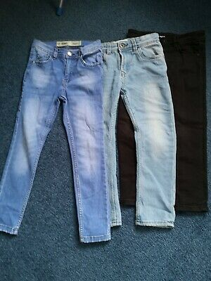 Three Pairs Of Lovely Boys Skinny Jeans Aged 6/7