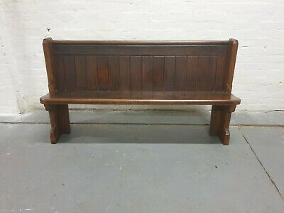 Antique Pitch Pine 5Ft Church Pew Bench